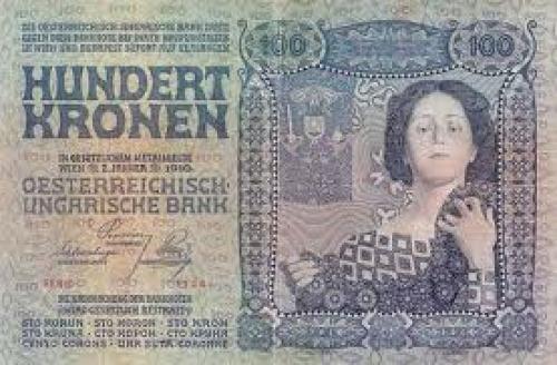 Banknotes; 100 Crown banknote, Austria-Hungary Bank - 1910