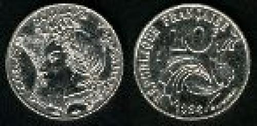 10 francs; Year: 1986;(km 959); Madam Republic
