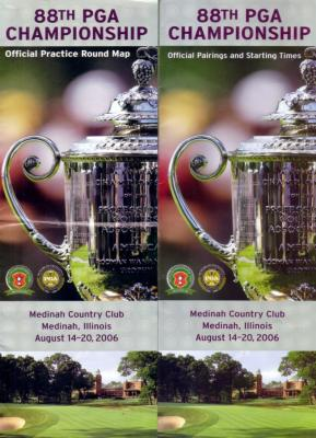 2006 PGA Championship map pairings & spectator guide set (Tiger Woods)