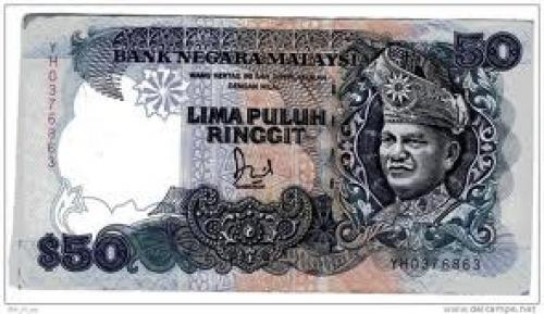 Banknotes;  $50 banknote from Malaysia  Lima puluh