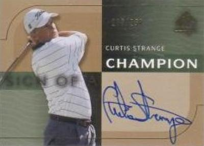 Curtis Strange certified autograph 2003 SP golf card #108/250