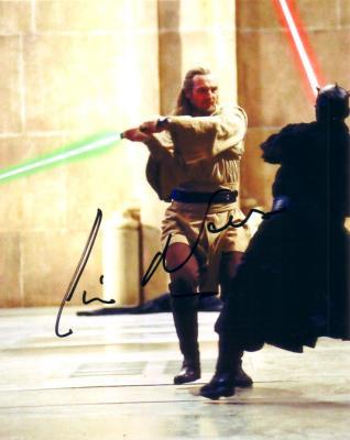 Liam Neeson autographed Star Wars 8x10 Qui-Gon Jinn photo