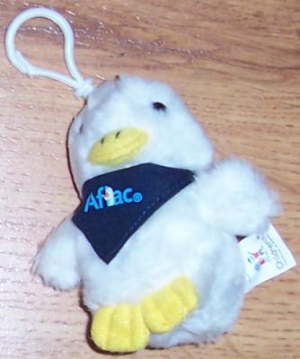 2010 AFLAC talking plush duck backpack or Christmas Tree or purse ornament