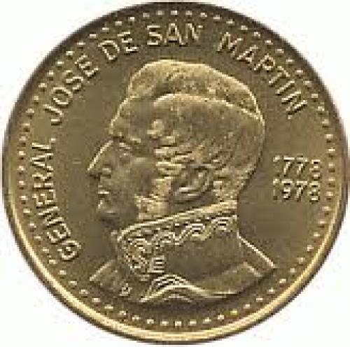 Coins;  Argentina 50 peso Aluminium bronze