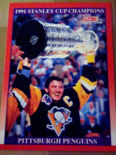 1991-92 Score Bilingual: # 315 Pittsburgh Penguins