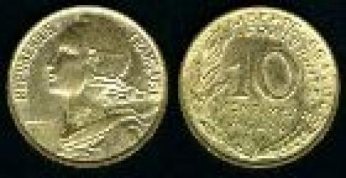 10 centimes; Year: 1962-2001; (km 929)