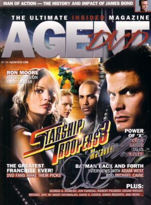 Casper Van Dien autographed Starship Troopers 3 Agent DVD magazine