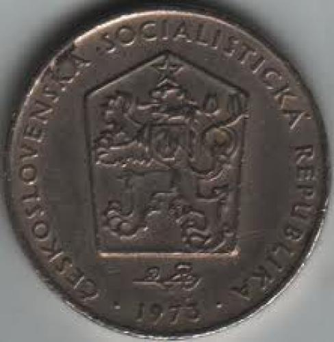 Coins; Czechoslovakia 2 Koruna 1973. back image