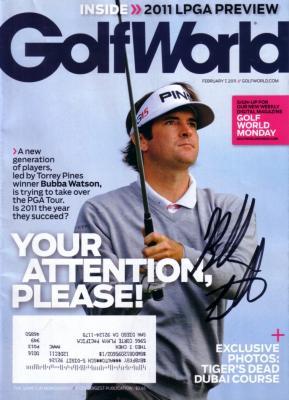Bubba Watson autographed 2011 Golf World magazine