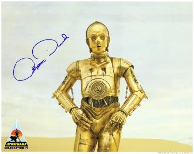 Anthony Daniels autographed 8x10 Star Wars C-3PO photo
