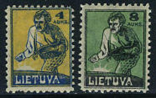 Definitives 2v; Year: 1922