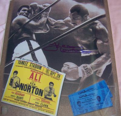 Ken Norton autographed 11x14 boxing photo (vs. Muhammad Ali)