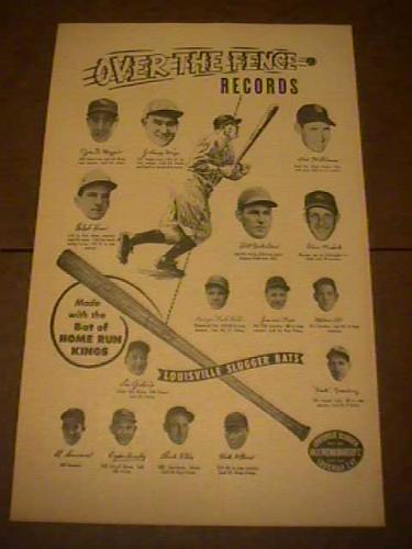 Louisville Slugger poster Over the Fence