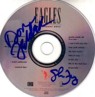 Don Felder & Glenn Frey autographed Eagles Hell Freezes Over CD