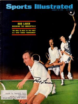 Rod Laver autographed 1968 U.S. Open Sports Illustrated