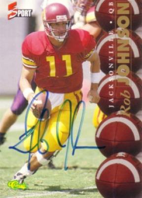 Rob Johnson certified autograph USC 1995 Classic card