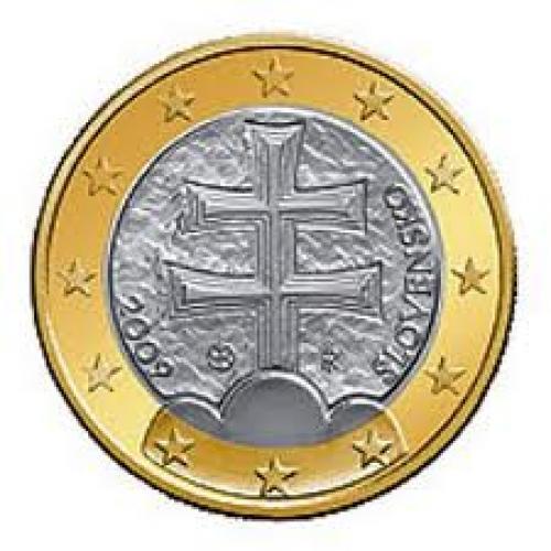 Coins; Euro 01 Slovakia