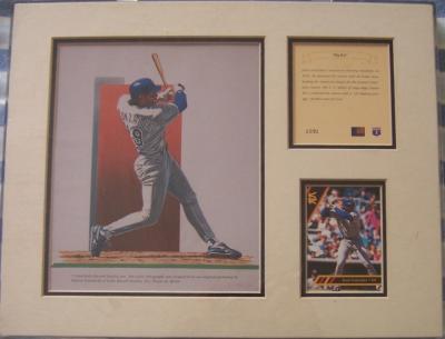 Juan Gonzalez Texas Rangers 11x14 lithograph in display box