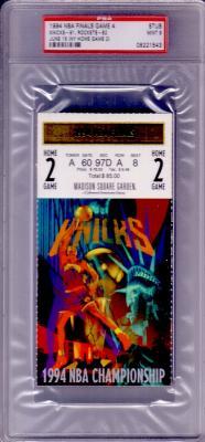 1994 NBA Finals Game 4 ticket stub PSA 9 MINT (Rockets vs Knicks)