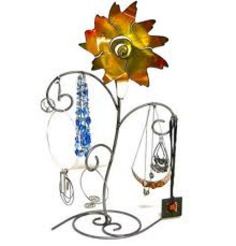 Decorative; Metal Jewelry Display Stands