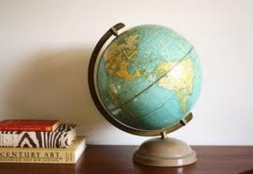 Antiques Globe; 1950 Cram's Universal Globe