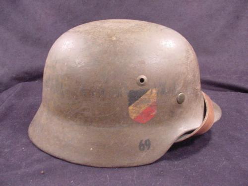 Original German Kriegsmarine M35 Double Decal Helmet