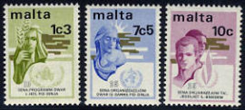 Mixed issue 3v; Year: 1973
