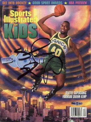 Shawn Kemp autographed Seattle Sonics Sports Illustrated for Kids magazine (UDA)