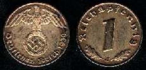 1 reichspfennig 1936-1940 (km 89); Bronze