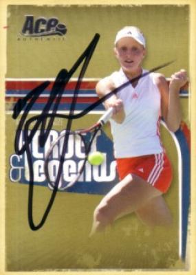 Anna Chakvetadze autographed 2006 Ace Authentic tennis card