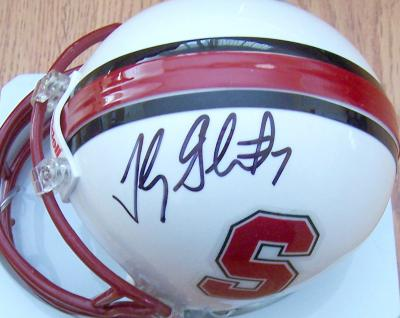 Toby Gerhart autographed Stanford mini helmet