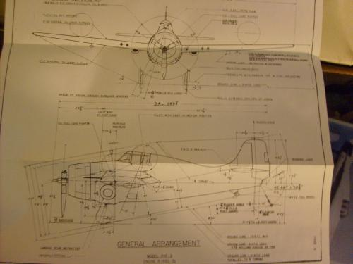Grumman F4F Wildcat Drawings for model makers, aircraft rebuilders...
