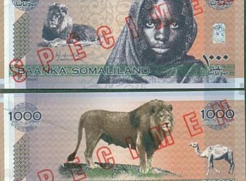 Somaliland - 1,000 Shillings Specimen