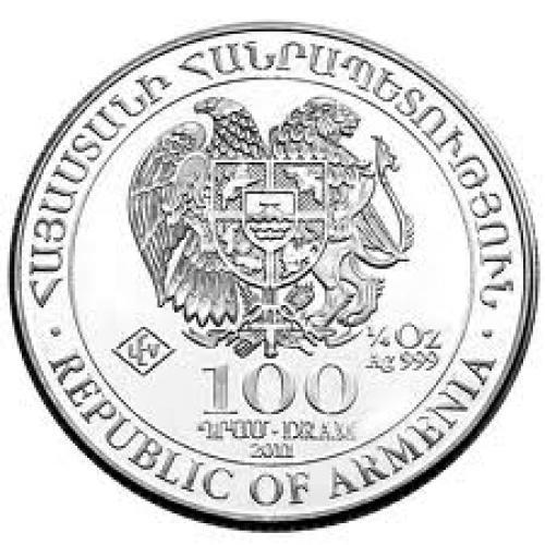 Coins; 1/4oz Silver Bullion Coin - Armenia 2012 Noah's Ark