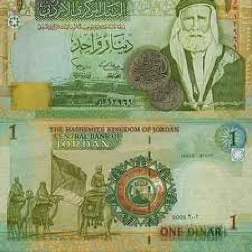 Banknotes; 1 jordan‑dinar Banknotes