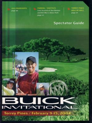 Tiger Woods 2004 Buick Invitational program