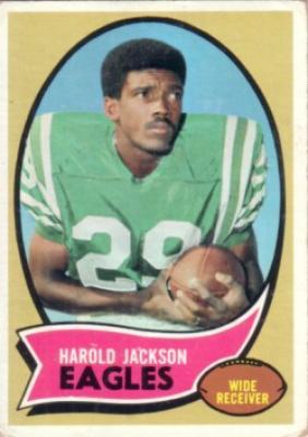Harold Jackson Eagles 1970 Topps Rookie Card #72 Good