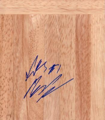 Scottie Reynolds autographed basketball hardwood floor