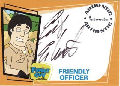 Erik Estrada Family Guy certified autograph card