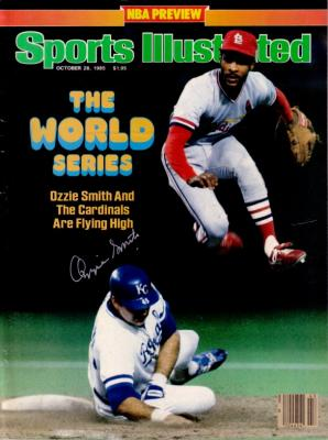 Ozzie Smith autographed St. Louis Cardinals 1985 World Series Sports Illustrated