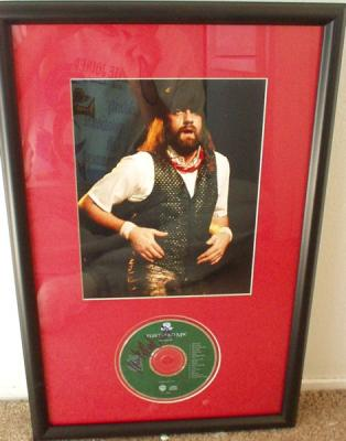 Mick Fleetwood autographed Fleetwood Mac CD matted & framed with 8x10 concert photo