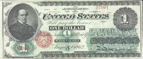Banknotes; United States / 1 Dollar, 1862