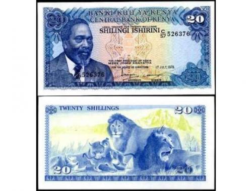 KENYA 20 shillings 1978