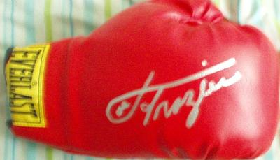 Joe Frazier autographed Everlast boxing glove (Superstar Greetings)
