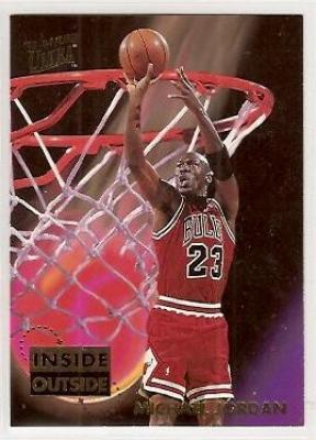 Michael Jordan Bulls 1993-94 Ultra Inside Outside insert card