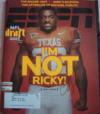 Cedric Benson autographed Texas 2005 ESPN Magazine