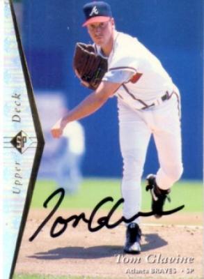 Tom Glavine autographed Atlanta Braves 1995 Upper Deck SP card