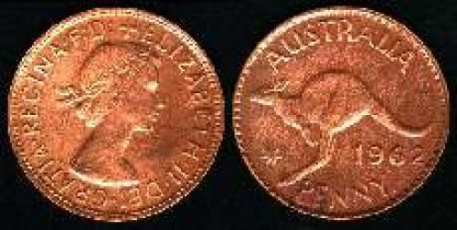 1 penny; Year: 1955-1964; (km 56)