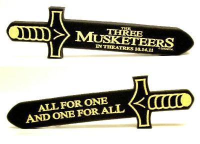 Three Musketeers movie 2011 promo foam sword MINT