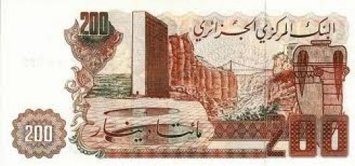 Banknotes; 200 Dinars;  Algeria; Africa